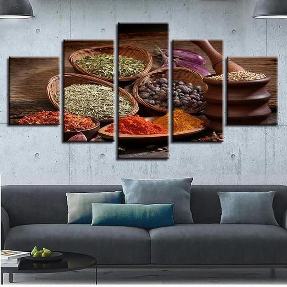 Indian Spices Wall Art Canvas