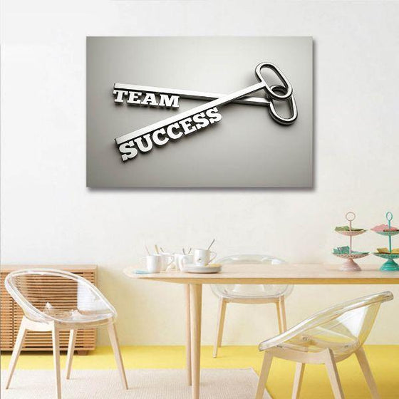 Inspire Team Success Canvas Wall Art Dining Room
