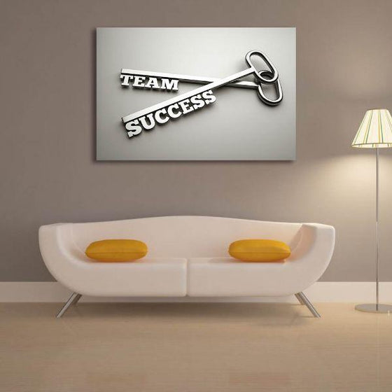 Inspire Team Success Canvas Wall Art Living Room