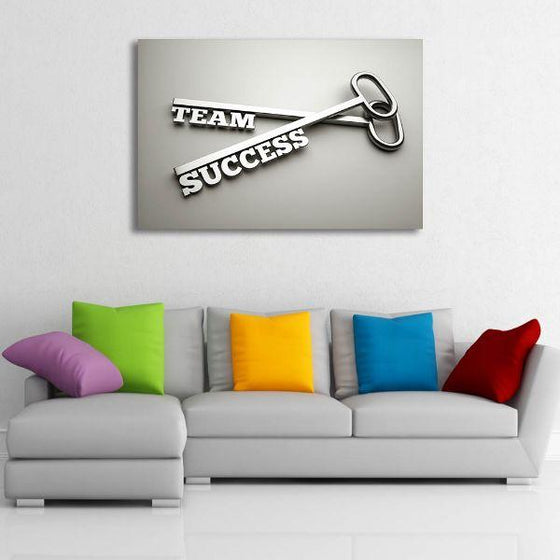 Inspire Team Success Canvas Wall Art Print