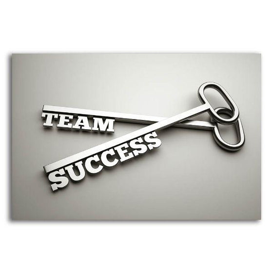 Inspire Team Success Canvas Wall Art