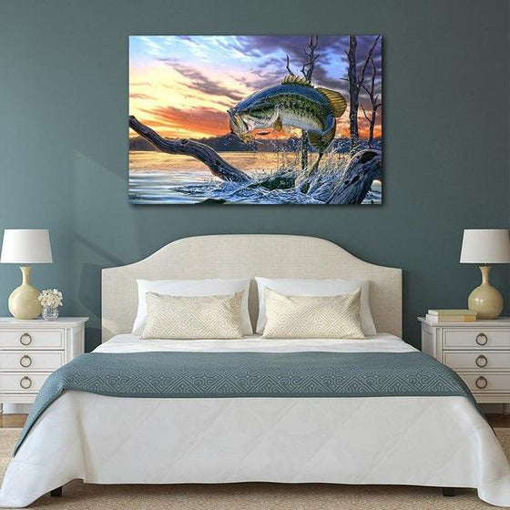 Jumping Fish Canvas Wall Art Bedroom
