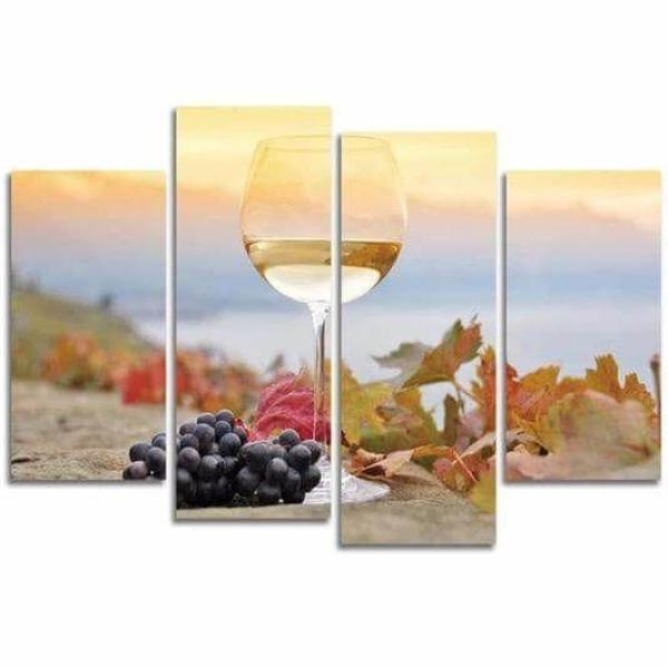 White Wine Grapes Canvas Wall Art View And Wine Wall Decor