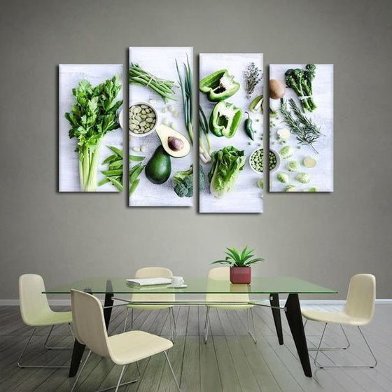 Kitchen Wall Art With Fruit Canvases