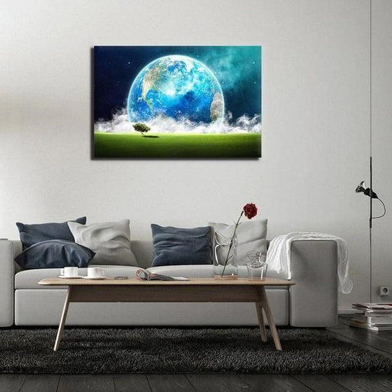 Landscape Overlooking Earth Wall Art Decor