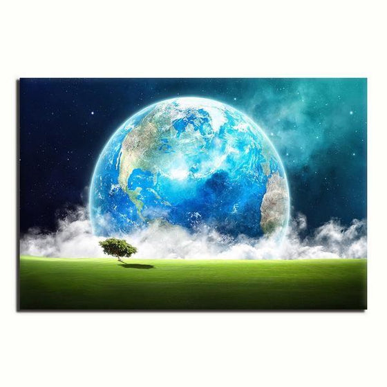Landscape Overlooking Earth Wall Art