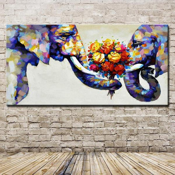 Large Hand Painted Canvas Art