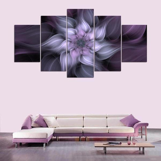 Large Metal Flowers Wall Art Print