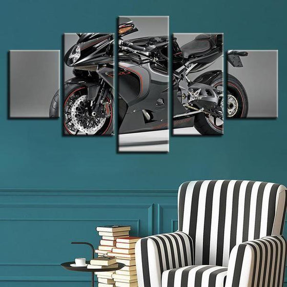 Large Motorcycle Wall Art Canvas