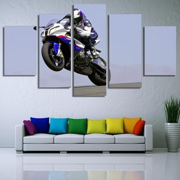 Large Motorcycle Wall Art Ideas