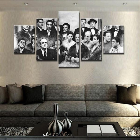 Retro Movie Characters Inspired Canvas Wall Art For Living Room