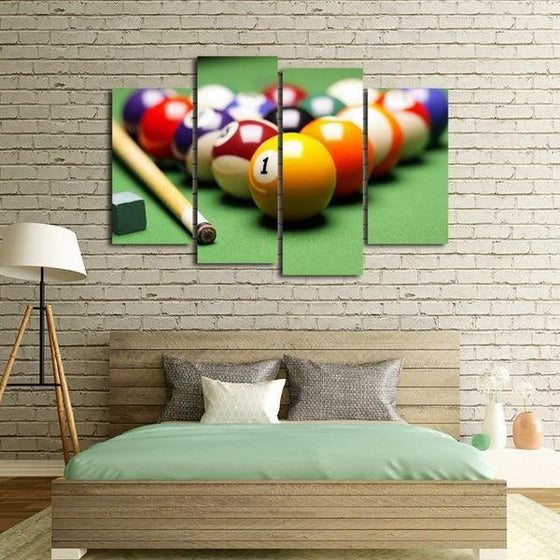 Pool Billiards Canvas Wall Wall Art Bedroom