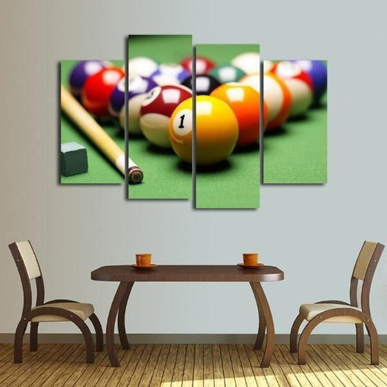 Pool Billiards Canvas Wall Wall Art