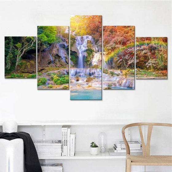 Large Waterfall Wall Art Canvas