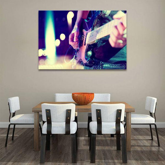 Lead Electric Guitar Canvas Wall Art Dining Room