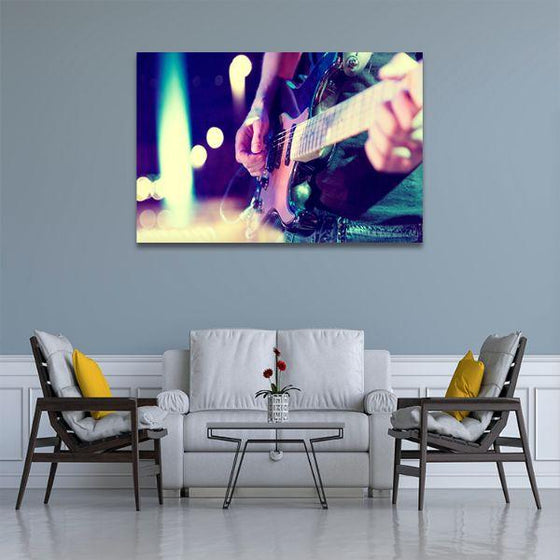 Lead Electric Guitar Canvas Wall Art Living Room