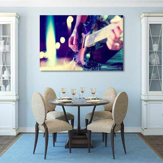 Lead Electric Guitar Canvas Wall Art Print