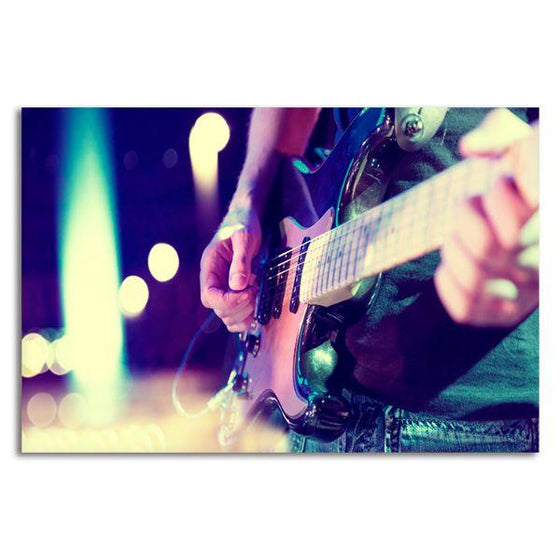 Lead Electric Guitar Canvas Wall Art