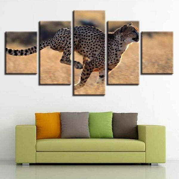 Leopard Metal Wall Art Canvas