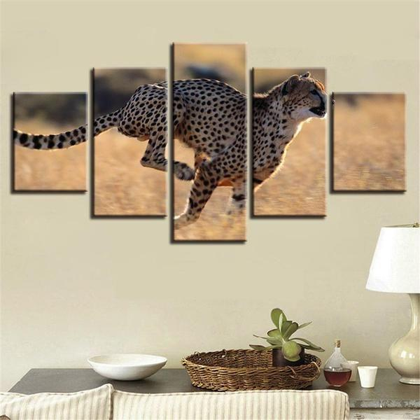 Leopard Metal Wall Art Decor