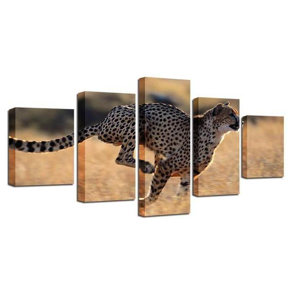 Leopard Metal Wall Art Print