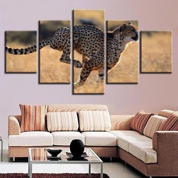 Leopard Metal Wall Art