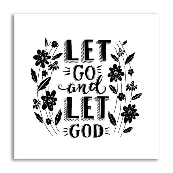 buy let go let god quote canvas wall art online net
