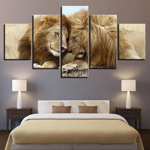 Lion And Lioness Wall Art