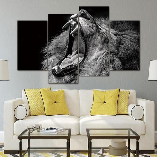 Lion Wall Art Black And White