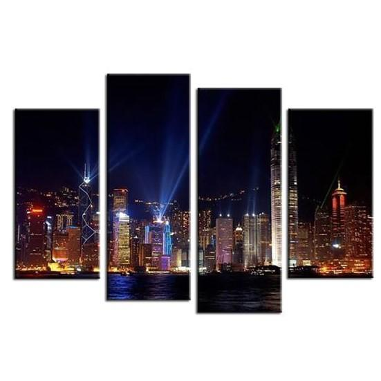 Lively New York City View Canvas Wall Art
