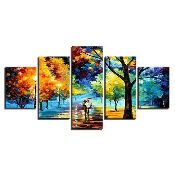 Lively Trees Wall Art Canvas