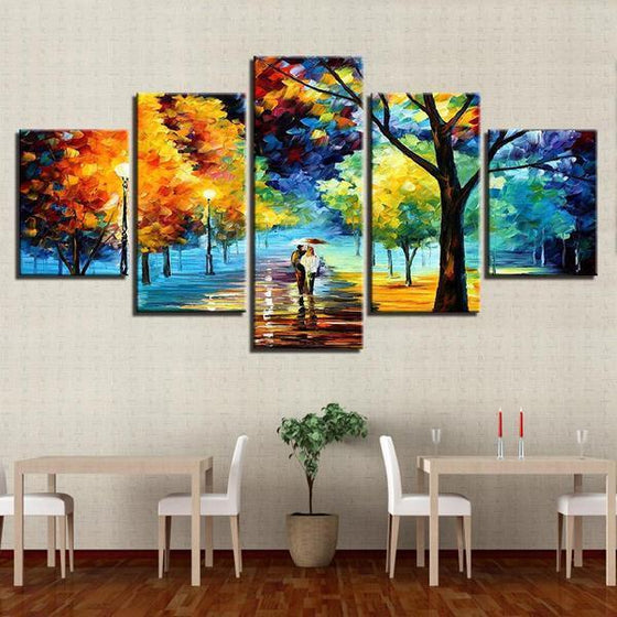 Lively Trees Wall Art Dining Room
