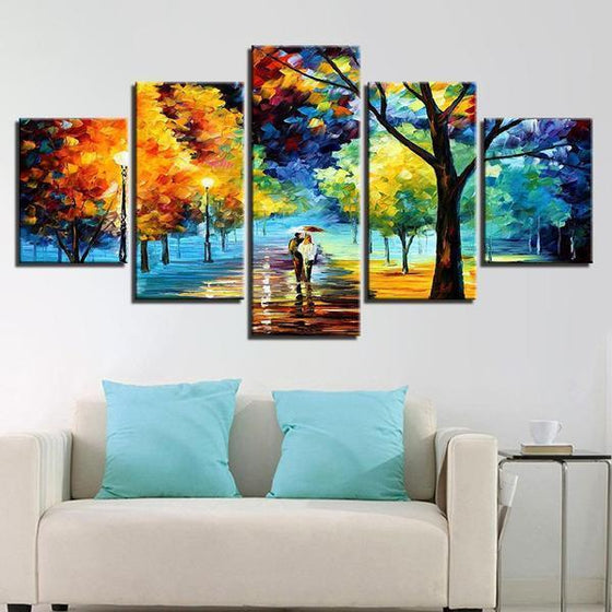 Lively Trees Wall Art Living Room