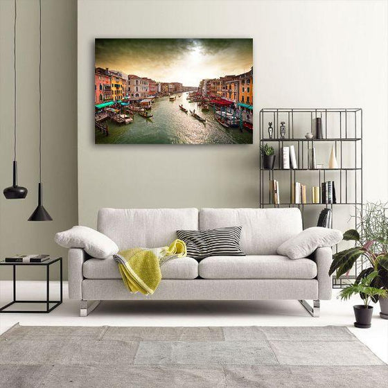 Lively Venice Grand Canal Wall Art Decor