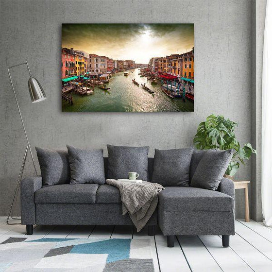 Lively Venice Grand Canal Wall Art Ideas