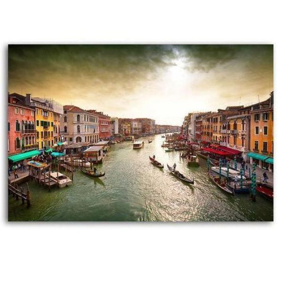 Lively Venice Grand Canal Wall Art