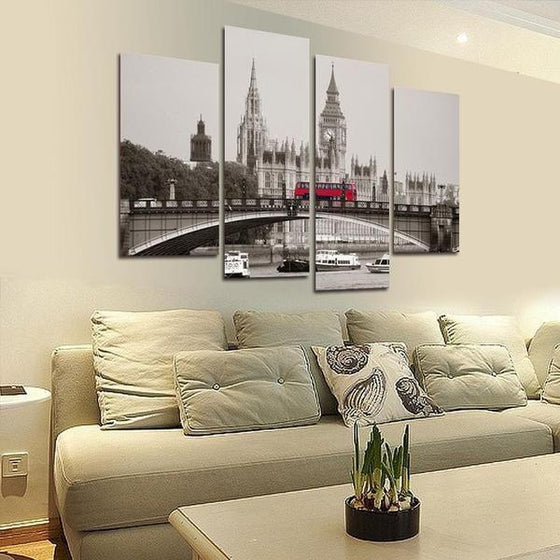 London City Canvas Wall Art Print