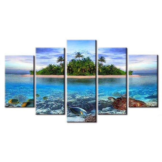 Lone Island Canvas Wall Art