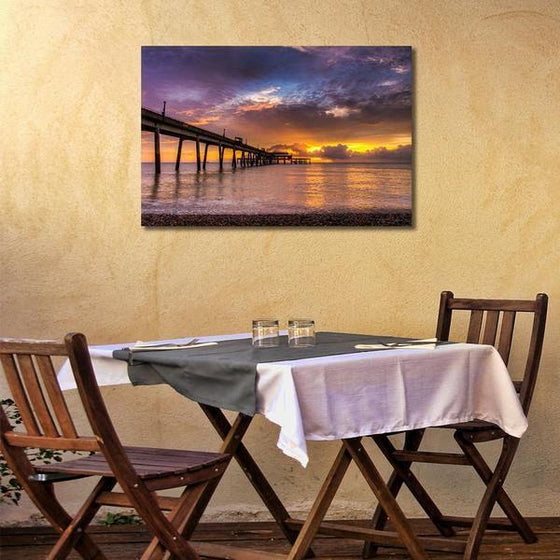 Long Bridge To Sunset Wall Art Dining Room