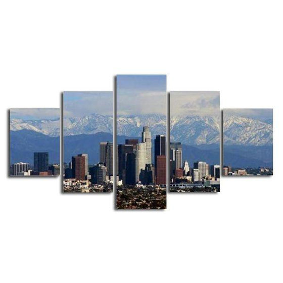 Los Angeles & High Buildings Canvas Wall Art