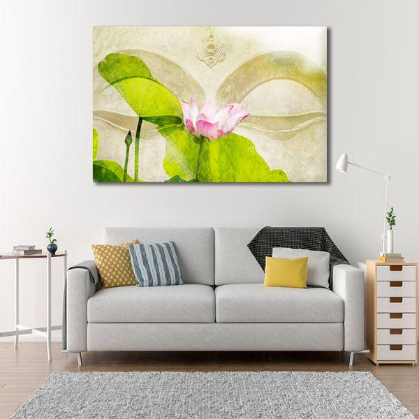 Lotus Flower Zen Canvas Wall Art Decor