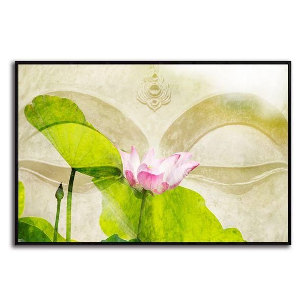 Lotus Flower Zen Canvas Wall Art Print