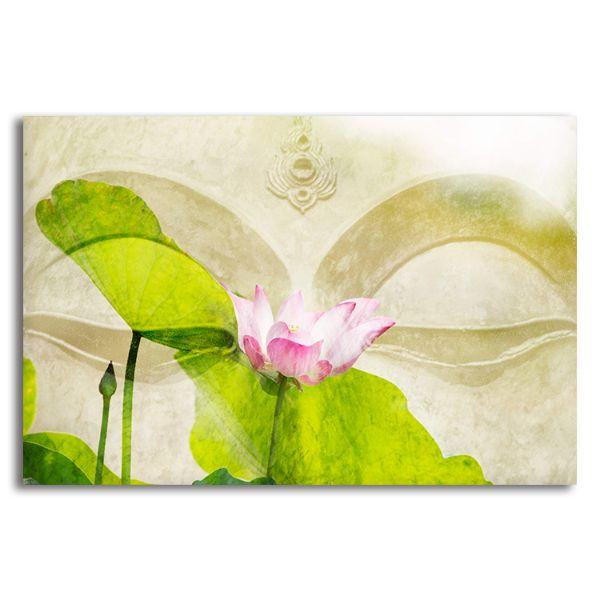 Lotus Flower Zen Canvas Wall Art