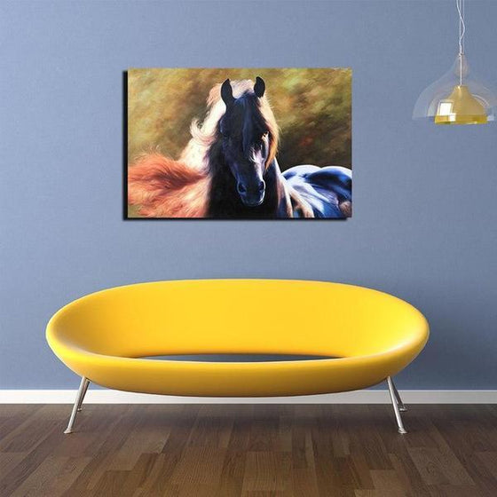 Magnificent Black Horse Canvas Wall Art Ideas