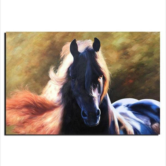 Magnificent Black Horse Canvas Wall Art