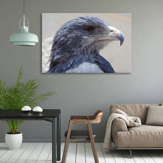 Magnificent Eagle Head Canvas Wall Art Dining Room