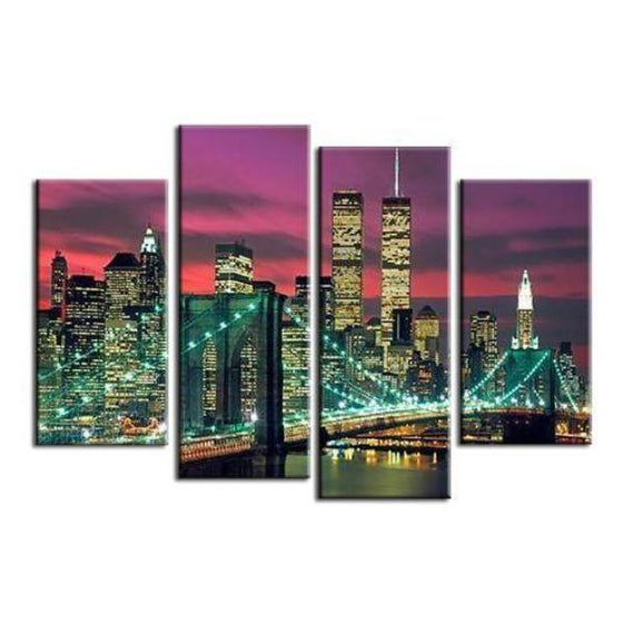 Manhattan Brooklyn Bridge Canvas Wall Art