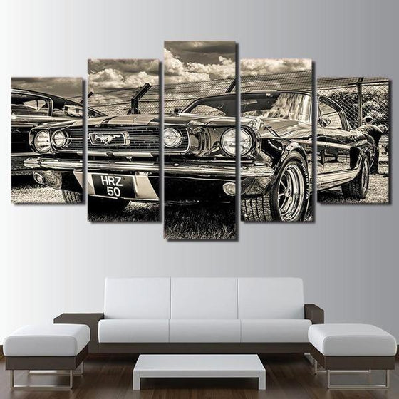 1965 Ford Mustang Canvas Wall Art Living Room
