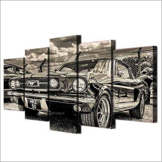 1965 Ford Mustang Canvas Wall Art Prints