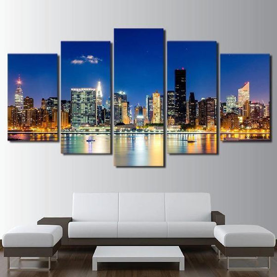 Metal Cityscape Wall Art Prints